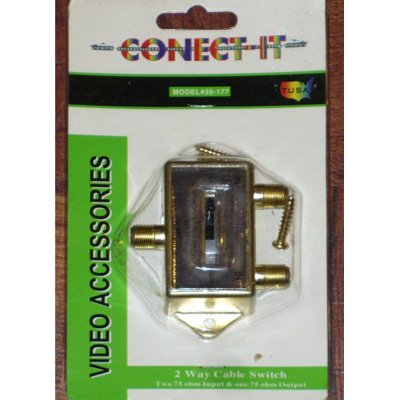 Conect It 2-way Cable Switch (2-75ohm inputs & 1-75ohm output)