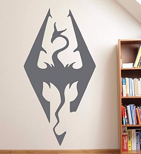 Pbldb 31X60Cm Dragonborn Wall Decal for Kids Rooms Vinyl Wall Stickers Removable Boys Bedroom Guild Sign Home Decor Special Design Mural -