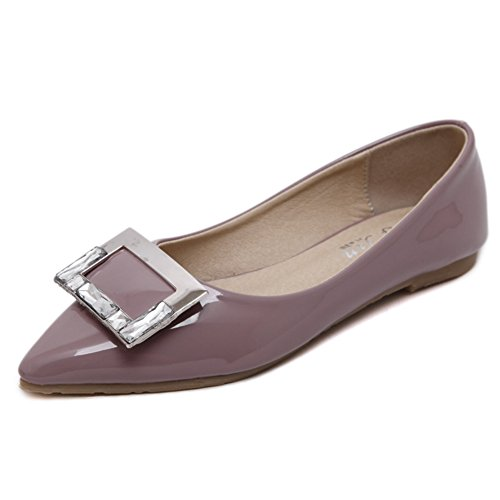 for Slip Women's Nude Dress Color Casual Shoes JULY Comfort Pointed T Ballet Flats On Toe aBxRwqPCt
