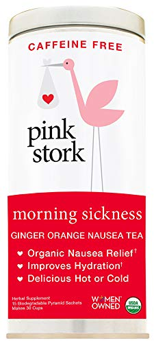 - Pink Stork Morning Sickness Tea: Ginger Orange, USDA Organic Loose Leaf Herbs in Biodegradable Sachets, Morning Sickness, Nausea, Cramps, Indigestion Relief -30 Cups, Caffeine-Free