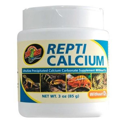 Zoo Med Reptile Calcium without Vitamin D3, -