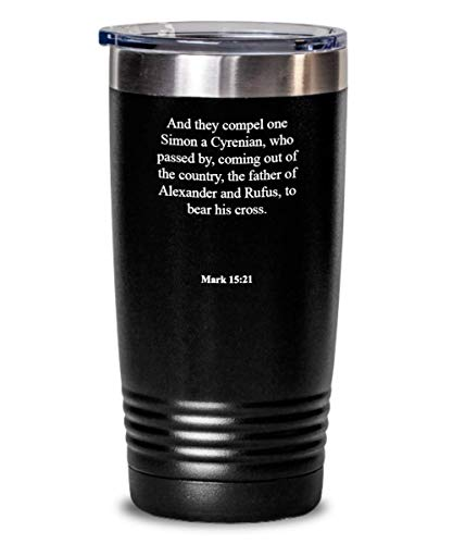 Genesis 9 6 Tumbler - Heat Insulated With Lid, Faith/Bible Verse/Psalm Gift: