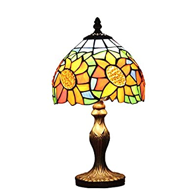 U-Taste Tiffany Style Lamp with 8-Inch Stained Glass Shade 15-inch Height