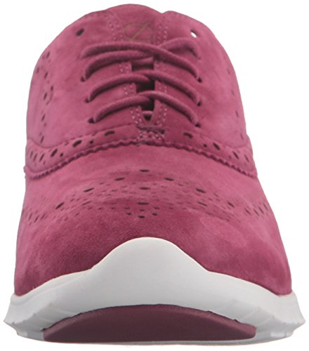 Zerogrand Cole Optic Closed Women's Hole Suede Ox Haan Cabernet White Wing qUnpcaETwU