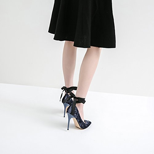 ALUK- Damenschuhe - Europa und Amerika spitzten flache einzelne wilde Schuhe mit Frauensandalen ( Farbe : Height 10cm , größe : 36-Shoes long230mm ) Height 10cm
