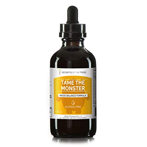 Tame The Monster Alcohol-Free Extract, Tincture, Glycerite Ashwagandha,St. John s Wort, Eleuthero Siberian Ginseng, Ginkgo, Valerian, Mucuna. Mood Balance Formula 4 FL OZ