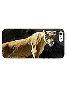 3d Full Wrap Case for iPhone 5/5s Animal Attentive Lioness
