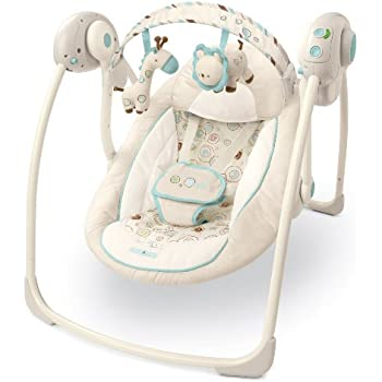 Bright Starts Comfort and Harmony Portable Swing, Biscotti Baby (Discontinued by Manufacturer) (Discontinued by Manufacturer)