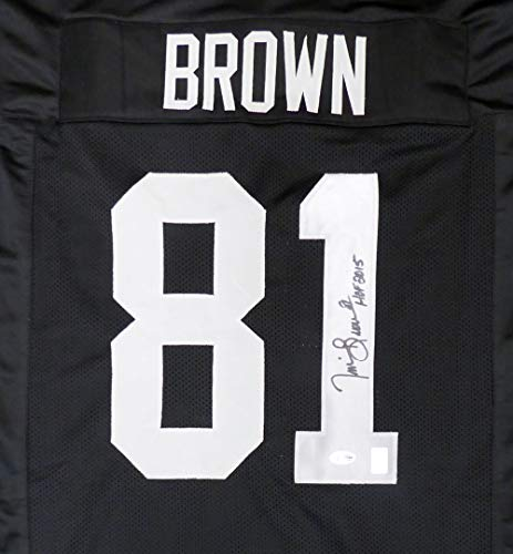 Oakland Raiders Tim Brown Autographed Black Jersey