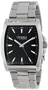 Caravelle by Bulova Caballero 43A103 Classic Stainless Steel Reloj with Black Dial