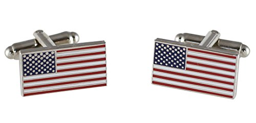 Forge Official American Flag Cufflinks (Silver)