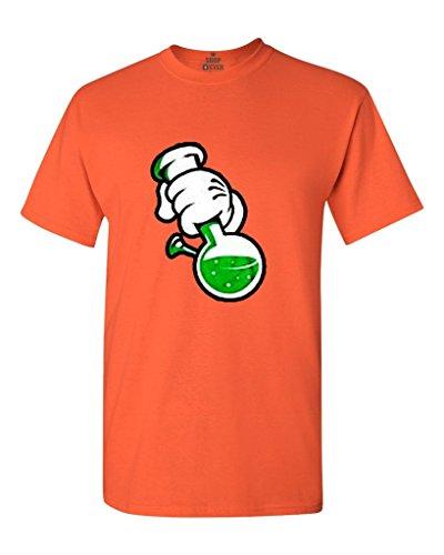 Shop4Ever Cartoon Hands Bong T-shirt Weed Shirts XXXXX-LargeOrange 0