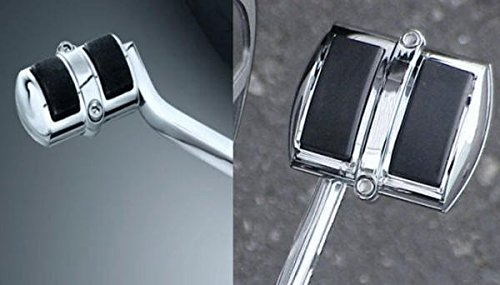 i5 Chrome Rear Brake Pedal & Gear Shift Pedal Covers for Honda Shadow 750 Aero & Phantom