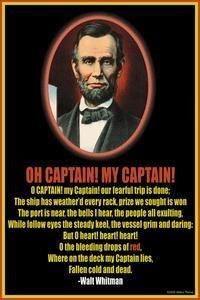 Amazon.com: Oh Captain, my captain! - 12x18 Art Poster by Walt ...