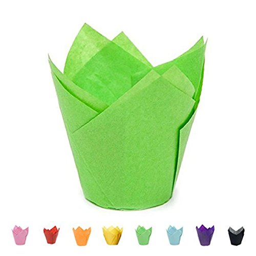 Tulip Baking Cups | Cupcake or Muffin Liners (Key Lime Green) 100 Count (Cupcake Baking Temperature)