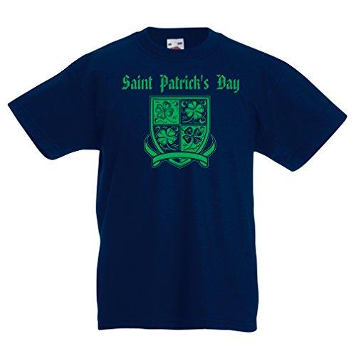 funny-t-shirts-for-kids-saint-patricks-day-shamrock-symbol-irish-party-time-5-6-years-dark-blue-mult