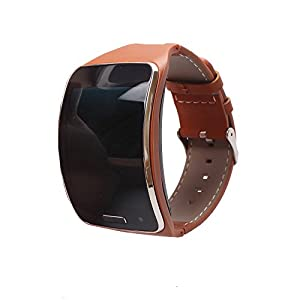 Alonea Genuine leather Watch Wrist Strap Band For Samsung Gear S SM-R750 Smart