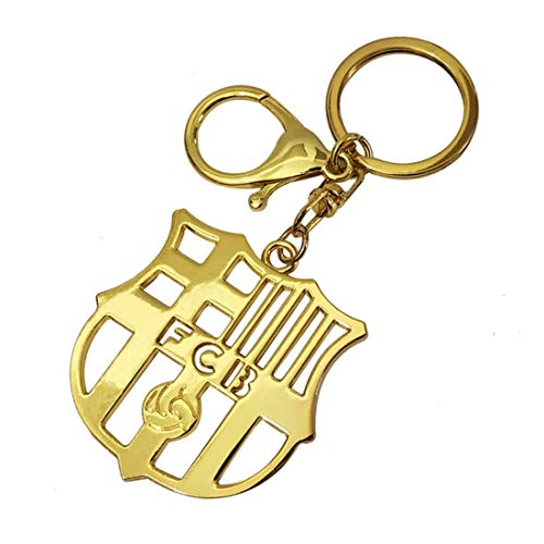 FOOT-ACC Real Madrid, Barcelona, Juventus, Manchester United, Arsenal, PSG, Chelsea, Liverpool Sports Fan Key Chains Soccer Team Football Metal Pendant Keyring Keychain (Barcelona) (Real Keychain Metal Madrid)