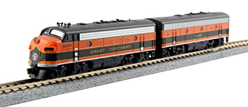 Emd F7a Unit - Kato USA Model Train Products EMD F7A/B 2 Locomotive Set - Great Northern #444A, 444B (1:160 Scale)