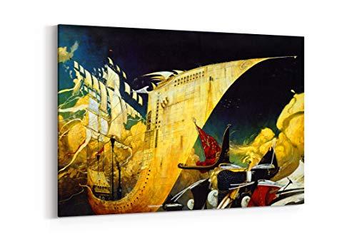 The Rabbits Shaun Tan John Marsden Ships Beaches Animals Fantasy Art - Canvas Wall Art Gallery Wrapped 12