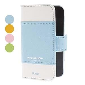 HP-K.WIN PU Funda de cuero con soporte para iPhone 4/4S (colores surtidos) , Amarillo
