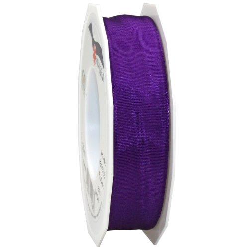 Morex Ribbon French Wired Lyon Ribbon, 1-Inch by 27-Yard Spool, Purple - Edge Taffeta Ribbon