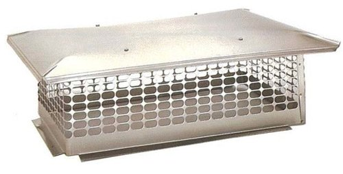 The Forever Cap CCSC2845 28 x 45-Inch Multi Flue Stainless Steel Crown Mount Chimney Cap, 1-Pack
