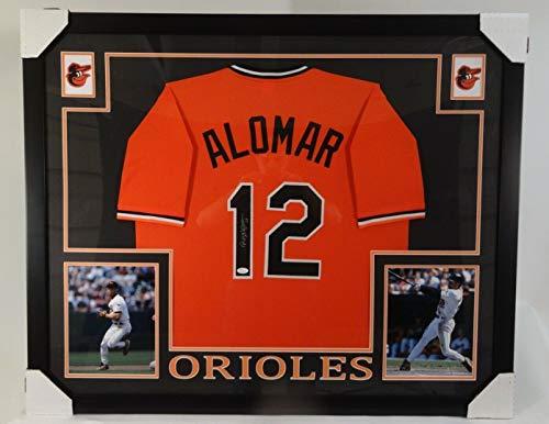 - Roberto Alomar Baltimore Orioles Framed Autographed Signed Custom Jersey with Memorabilia JSA