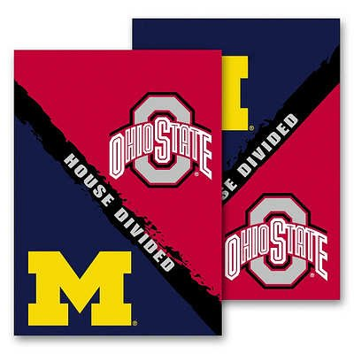 NCAA Michigan - Ohio State 2-Sided House Divided Rivalry Garden Flag (Michigan State House Divided)