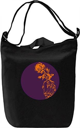 Skull and Rose Borsa Giornaliera Canvas Canvas Day Bag| 100% Premium Cotton Canvas| DTG Printing|