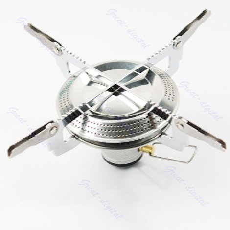 Lightweight Large Burner Classic Camping and Backpacking Stove. For iso-Butane/Propane Canisters
