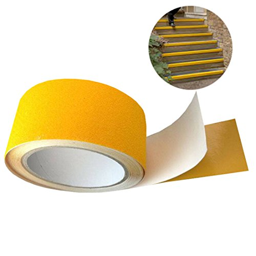 EONBON Yellow Anti Slip Tape, Non Slip Stair Tape, Anti Skid Tape Outdoor , Safety Grip Tape For Steps , Tread Tape - 2 inch x 10 Meter (32.8 Feet) by EONBON (Image #4)