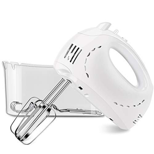 [2 Pack]Hand Mixer, Chitomax 5-Speed Hand Mixer with Turbo Electric Mixer Includes Beaters, Dough Hooks and Storage Case