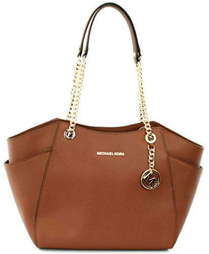 Michael Kors Jet Set Travel Large Chain Shoulder Tote (Luggage 2018)