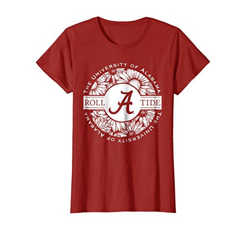 Womens Alabama Crimson Tide Cute Women's NCAA T-Shirt CA5BH04 Medium Cranberry
