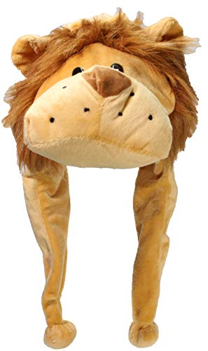 Best Winter Hats Adult/Teen Animal Character Ear Flap Beanie (One Size) - Lion ()