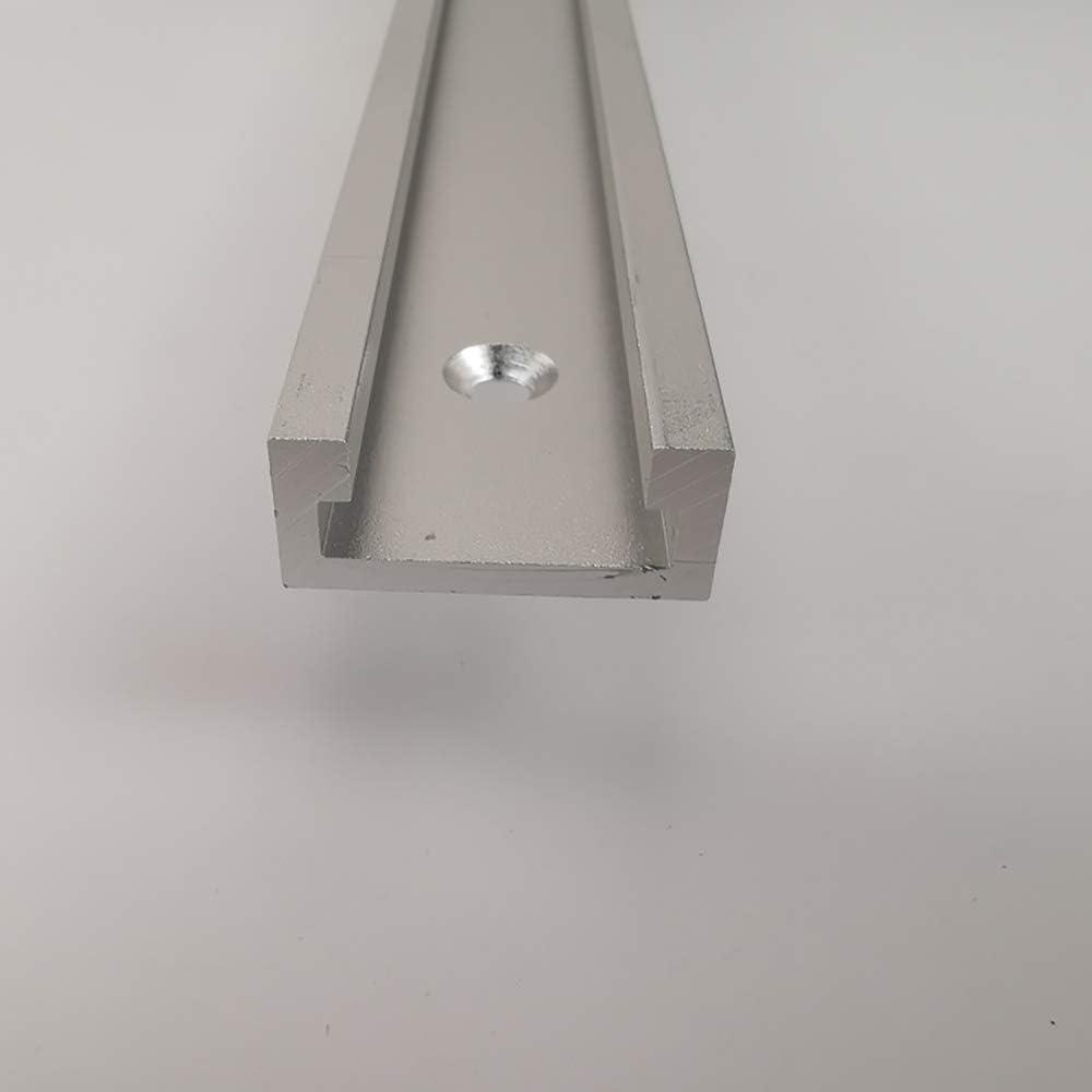 T-Nut schiene Aluminiumlegierung T-Schienen-Gehrungsvorrichtungs-Befestigungs-Schlitz f/ür Holzbearbeitung oder Router Tischs/äge UNJ 800MM T-Schienenrampe