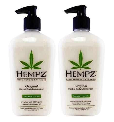 Hempz Original Herbal Body Moisturizer, 17 Fluid Ounce (Pack of 2)