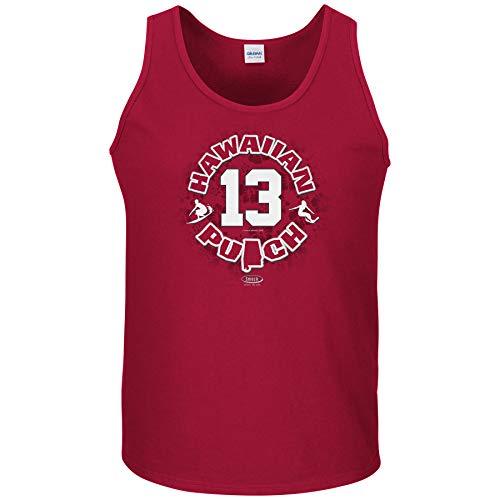 Alabama Football Fans. Hawaiian Punch Cardinal T-Shirt (Sm-5X) (Tank Top, X-Large)