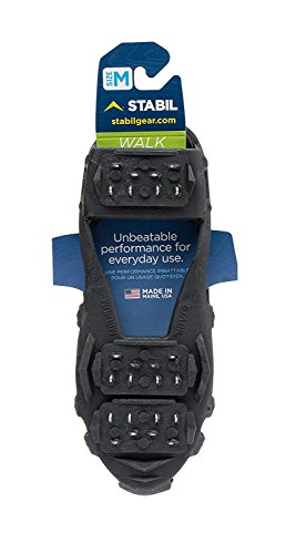 STABILicers Walk Traction Ice Cleat and Tread for Snow, Ice, Attaches Over Shoes/Boots for Everyday Safety in Winter, Outdoor, Slippery Terrain
