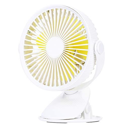 ゴシェール(Gocheer)ミニ Usb 扇風機 静音 卓上 360°回転可能 クリップ扇風機 風量3段階 携帯便利USB充電式 usbファン 日本語取扱説明書付き