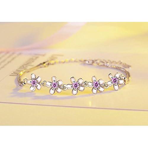 3bc413d87691 Scrox Nueva moda elegante y salvaje Corea pulsera de cristal fresco de las  señoras