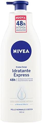 Nivea – Crema Corpo Idratante Express – Assorbimento Extra Rapido, Idratazione Profonda E A Lunga Durata – 500Ml