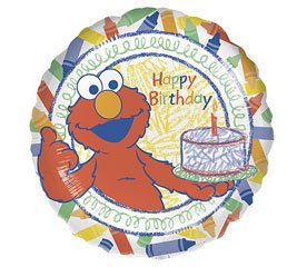 - Sesame Street Foil Balloon - 18 Inch Elmo Happy Birthday Colors