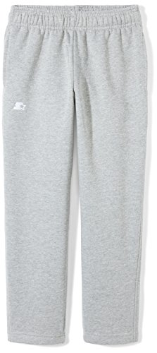 Girls Open Bottom Sweatpant - Starter Girls' Open-Bottom Sweatpants with Pockets, Amazon Exclusive, Vapor Grey Heather, XL (14/16)