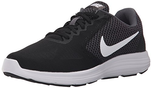 NIKE Women's Revolution 3 Running Shoe, Dark Grey/White/Black, 9.5 B(M) US