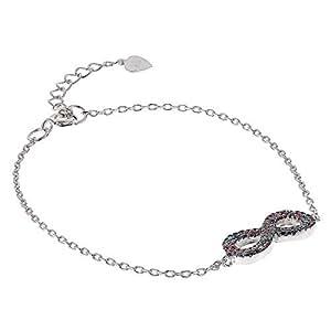 AK Jewels 925 Silver Infinity Multicolor Bracelet For Women