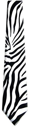 ZEBRA - Mens Zebra Print Necktie