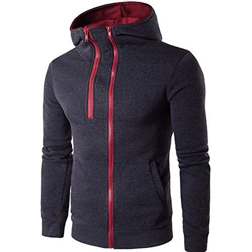 Clearance! Men's Slim Drawsting Polid Zipper Coat Jacket Outwear Sweater Winter Hoodie Long Sleeve from Dressin_Men's Clothes