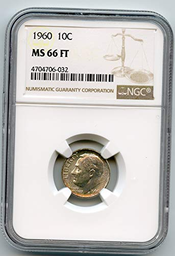 1960 Roosevelt Dimes FT Dime MS-66 NGC